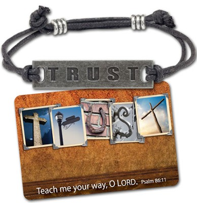 Trust Corded Bracelet and Card  -