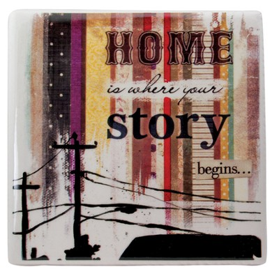 Home is Where Your Story Begins Tile  -