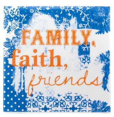 Family, Faith, Friends Tile  -