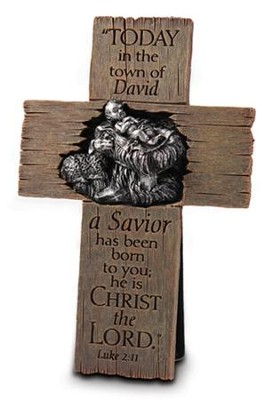 A Savior Is Born--Christmas Cross   -