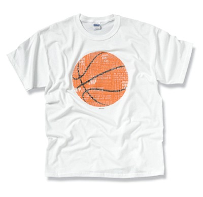 The Word In Basketball Tee Shirt,  Youth Large  -