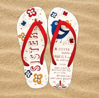 Sister Flip Flops, Small, Size 5-6  -