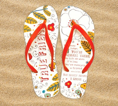 True Friend Flip Flops, Small, Size 5-6  -