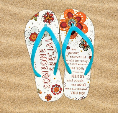 Someone Special Flip Flops, Large, Size 9-10  -