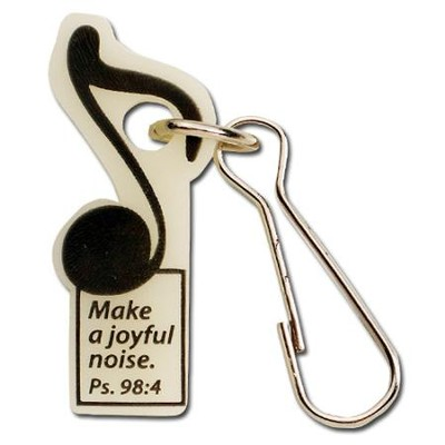 Make a Joyful Noise--Glow-in-the-Dark Zipper Pull   -