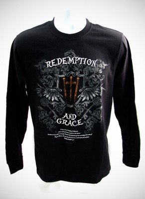 Redemption 2, Black Long-sleeve Tee Shirt, XX-Large (50-52)  -