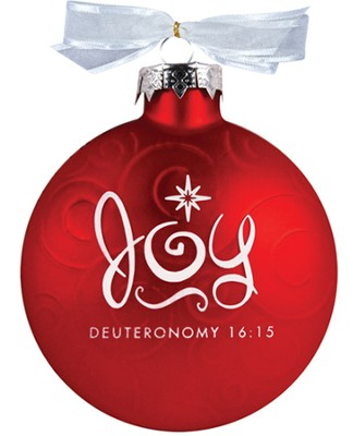 Joy Swirl Glass Ornament  -