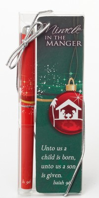 Miracle in the Manger Bookmark and Pen Set  -