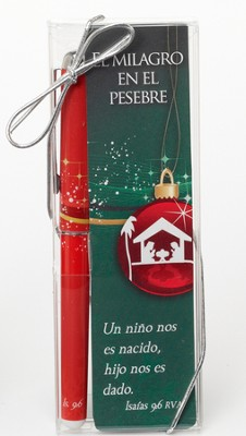 Miracle in the Manger Bookmark and Pen Set, Spanish  -