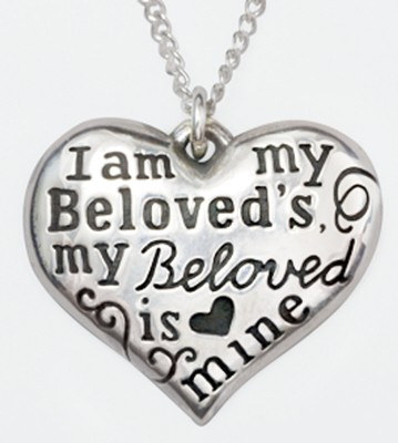 I Am My Beloved's Heart Necklace   -