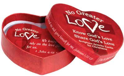 No Greater Love Heart-Shaped Box with 30 Scripture Cards  -