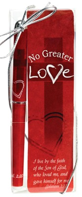 No Greater Love Pen and Bookmark Set  -