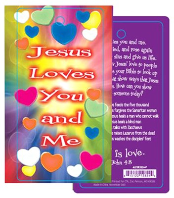 Valentine Three Dimensional Bookmark 1 John 4:8 (KJV)   -