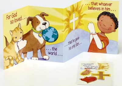 Accordion Valentine, John 3:16 with Stickers (ESV)  -