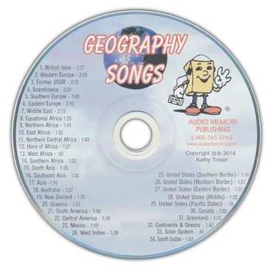 Audio Memory Geography Songs CD Only   -     By: Larry Troxel
