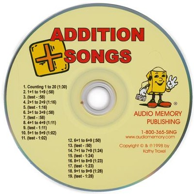 Audio Memory Addition Songs CD Only   -     By: Kathy Troxel
