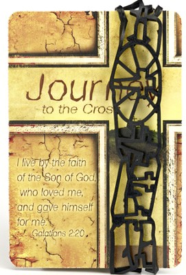 Journey to the Cross Patterned Silicone Bracelet and Pocket Card  -