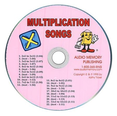 Audio Memory Multiplication Songs CD Only   -     By: Kathy Troxel