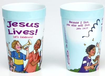 Jesus Lives! Let's Celebrate! Plastic Tumbler  -