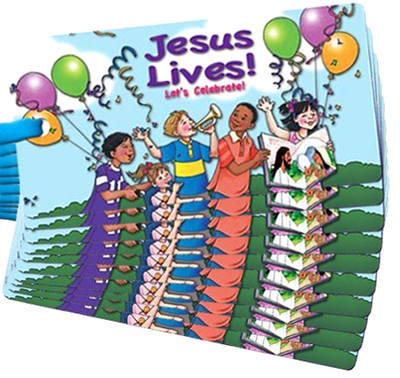 Jesus Lives! Let's Celebrate! 3D Bookmark, Pack of 10   -