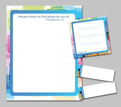 Exclamations of Thanks Notepad and Sticky Notes  -