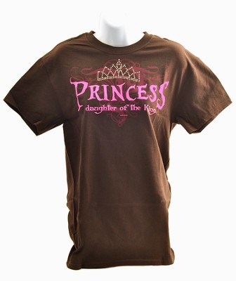 Princess Rhinestone Tee Shirt, Large (42-44)  -