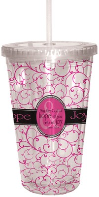 Hope & Joy Insulated Tumbler with Straw  -