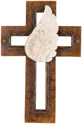 Angel Wing Wall Cross  -