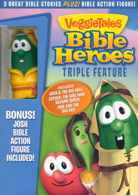 VeggieTales Bible Heroes Triple Feature DVD with  Action Figure  -