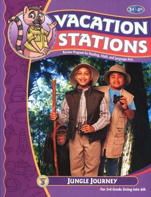 BJU Vacation Stations Book 4: Jungle Journey Grades 3-4   -