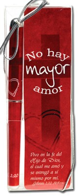 No Hay Mayor Amor, Lapicero Y Marcador de Libro   (No Greater Love, Pen and Bookmark)  -