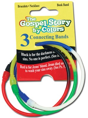 Gospel Colors Bracelets, Three 2-Colored Connecting Bands  -