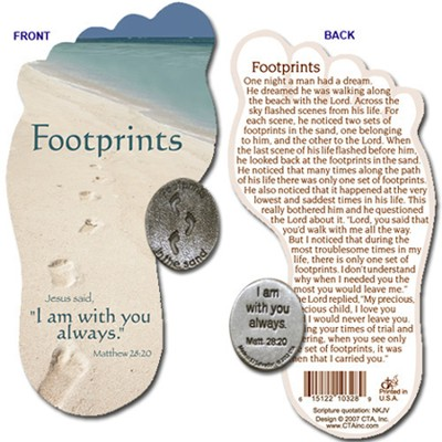 Footprints Pocket Token with Bookmark  -