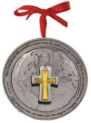 God So Loved the World Globe Ornament  -