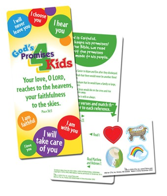 God's Promises for Kids--Jumbo Activity Bookmark   -