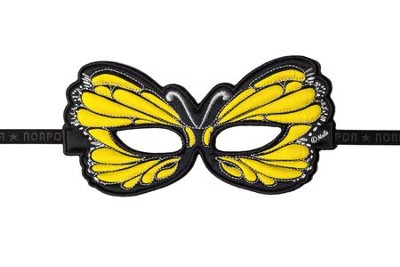 Butterfly Dress Up Masks, Yellow  -