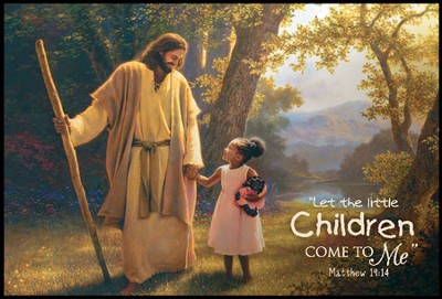 Let the Little Children Come, Mini Mounted Print  -     By: Greg Olsen