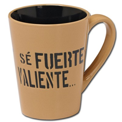 Sé Fuerte y Valiente, Taza  (Strong And Courageous, Mug)  -