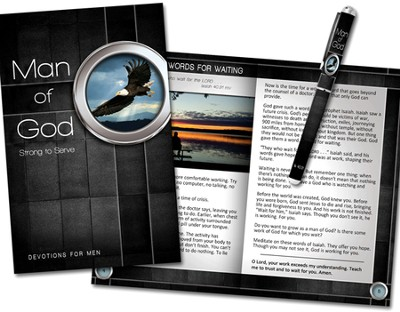 Man of God Devotion Book and Pen Gift Set  -