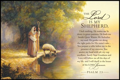 The Good Shepherd, Mini Mounted Print  -     By: Greg Olsen
