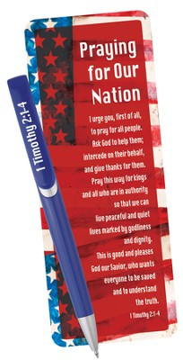 Praying For Our Nation, Pen and Bookmark  -