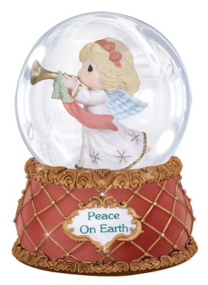 Precious Moments(R) Peace On Earth Musical Snow Globe  -     By: Sam Butcher