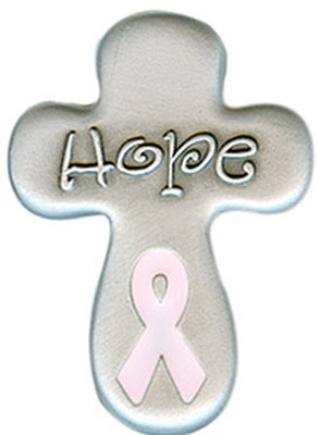 Hope, Pink Ribbon Pocket Token  -