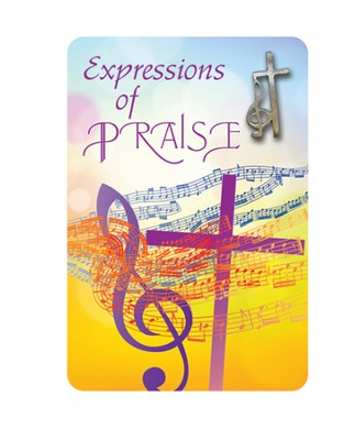 Music Expressions of Praise Cross and Clef Lapel Pin  -