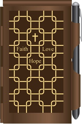 Faith, Hope Love Metal Note Case and Pen Set  -