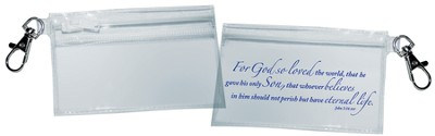 For God So Loved the World Clip Pouch  -