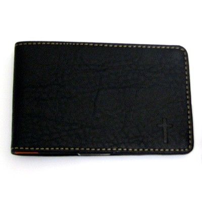 Credit Card Wallet with Debossed Cross  -