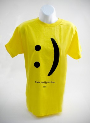 Smile, God Loves You Shirt, Yellow, 3X Large  -