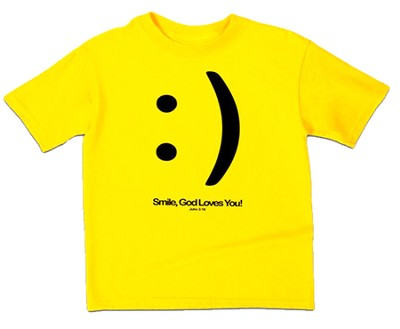 Smile Shirt, Yellow, Youth Medium  -
