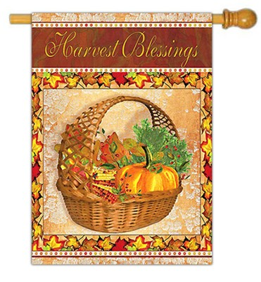 Harvest Blessings, Large Flag  -     By: Grace Pullen